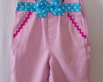 Custom boutique little girls Disney Frozen Anna Elsa overalls size 3 PRICE REDUCED!!