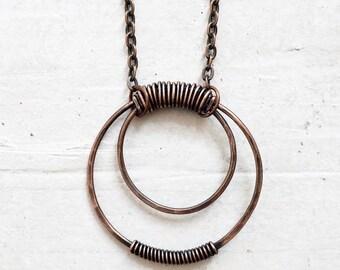Copper Circle Pendant