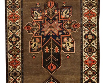 Items Similar To Round Afghan Marsala Brown Cream 70