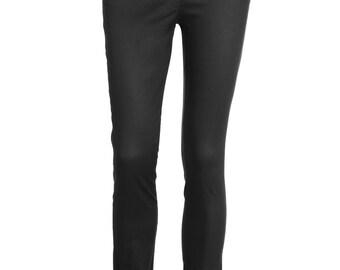 Black Skinny Pants, Black Skinny Trousers, Black Stretch Skinny Pants, Black High Waist Pants - ONLY XS