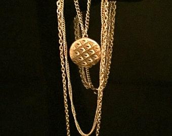 Vintage Multi-Chain Locket Necklace   VG1745