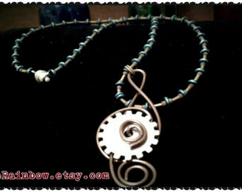 Handmade treble clef with steampunk touch