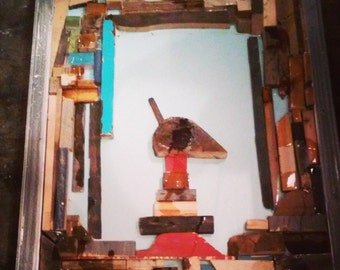 reclaimed wood folk art