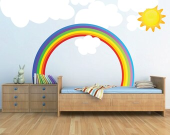 Rainbow Wall Decal Etsy