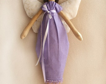 DIY Kit Angel Butterfly Tilda artistic primitive cloth doll sewing pattern and dollmaking materials Cotton fabric for rag doll Softie