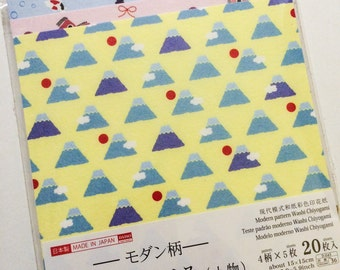 Washi Chiyogami - 20 Sheets of Traditional Japanese Origami Paper - Cheerful Prints