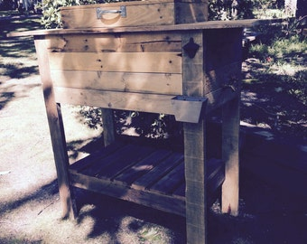 Medford NJ Local Pick Up or Delivery Only! rustic pallet cooler, pallet chest, outdoor, indoor