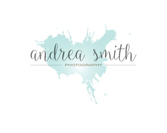 photography premade logo design, watercolor logo, artist logo