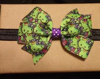 Zombie Hello Kitty Headband or Clip