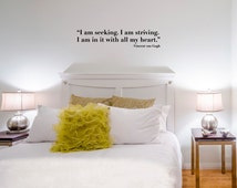 "Seeking... Wall Decal / Vincent van Gogh Quote Wall Sticker (36"" x 7.8"")"