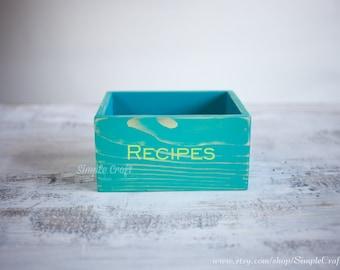 Bridal Shower gift for Bride - Recipe box - Custom recipe box - Wooden box - Wooden recipe box - Personalized recipe box - 3x5 Recipe Cards