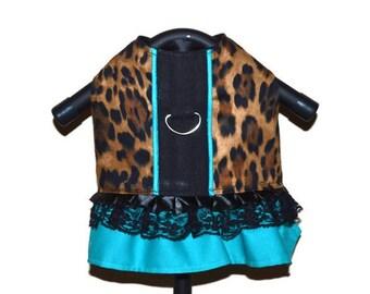 LITTLE MINX Leopard Dog Dress, Dog Harness, Small Dog Harness, Dog Clothes, Dog Dress Harness, Pet Accessories, Dog Dress, Small Dog Dress