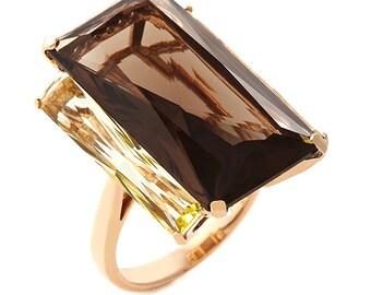 18kt Rose Gold And Smokey Quartz Ring 2E34