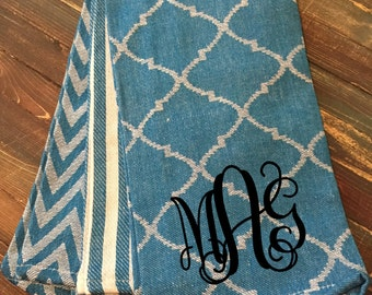 Monogrammed Kitchen Towel Set