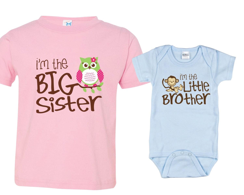 big sister little brother shirts set of 2 sibling t shirt or. Black Bedroom Furniture Sets. Home Design Ideas