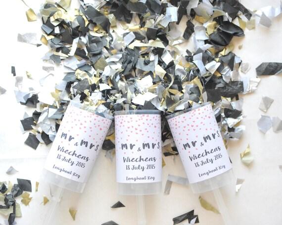 custom confetti push pop wedding confetti poppers wedding confetti