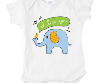 Baby Elephant Onesie or Toddler Tee