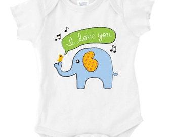 Baby Elephant Onesie or Toddler Tee