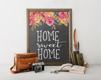 Home sweet home print decor entrance sign wall art home decor printable housewarming gift sweet home print Outdoor Decor Entryway art