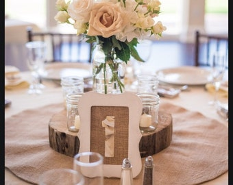 Rustic distressed table numbers
