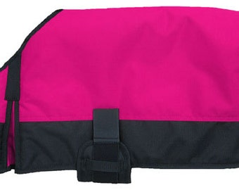 Pink Dog Blanket/Jacket/Coat - Tough 1 - Personalized/Monogrammed