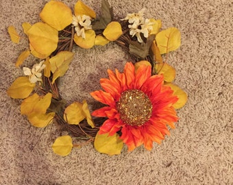 Small fall wreath