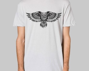 Mens Owl Shirt - American Apparel mens tee, graphic tees for men