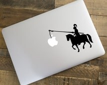 Humor Knight ride Horse deacl for MacBook, Pro, Air, apple notebook, funny vinyl decal, children kids home decor, laptop shining armor Y115
