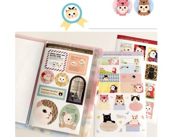 Choo Choo Cat Sticker Pack - Point Sticker | Kitty Cat Stickers | Cat Series | Gift Ideas