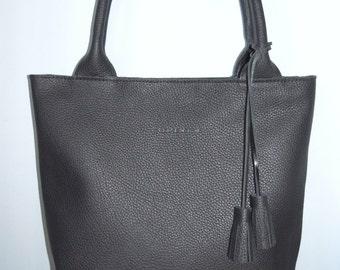 Genuine Leather Bag Black Color