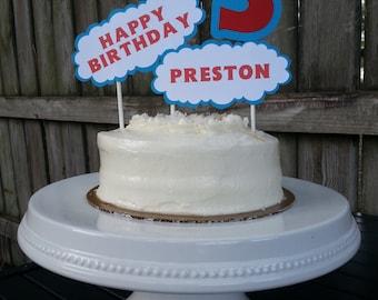 Thomas the Train Personalized Happy Birthday cake topper