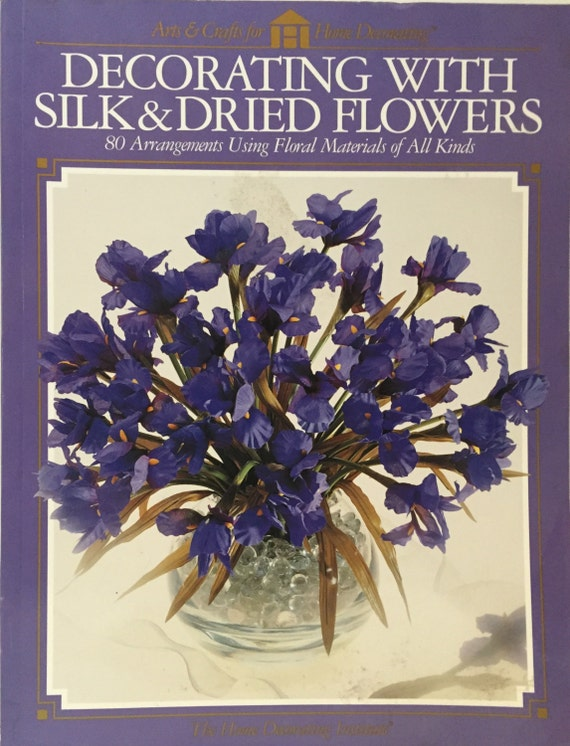decorating with silk dried flowers by booksnitems on etsy