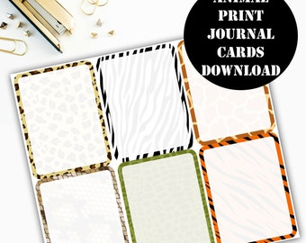Animal Print Journaling Card Printable / Journal Cards / Scrapbook Kit / Journaling List / Listers Gotta List / Instant Download 00074