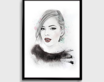 Tanya Burr Illustration Print