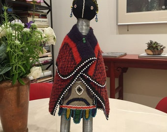 South African Beaded Ndebele Doll