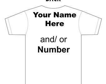 Shirt add-on (personalize front or back)