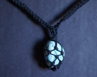 Turquoise Macrame Stone Necklace