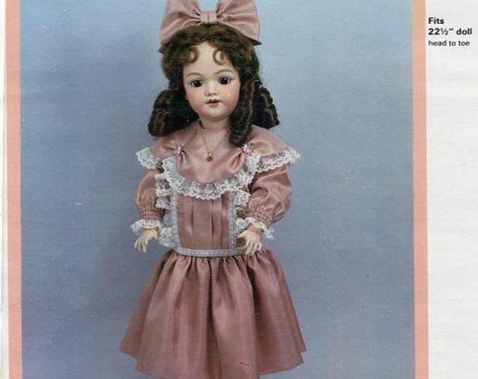 FREE usa SHIP Byron Doll Pattern 1980's BY-264 1249 Santa Pamela 22.5 Dress New Old Store Stock Sewing Pattern