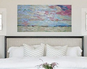 """Original Abstract Painting on Canvas - 48"""" x 24"""" by Casey Christian Blalock - oversize artwork, abstract art, mixed media art work"""