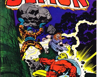The Demon 5 comic book, Jack Kirby art, Evil Witch, Horror, Bronze Age, Etrigan, Jason Blood. 1973 DC Comics, Choice FNVF or VF+ (8.5)