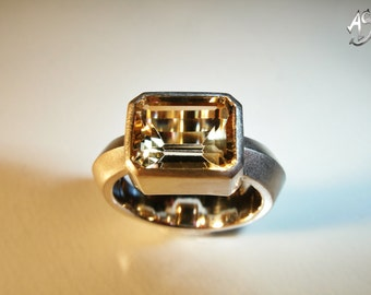 Silver ring, silver ring with Beryl, Beryl ring