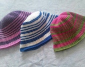 Crochet Children's Hats Striped One Size