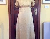 Regency Jane Austen Costume Dress  Gown, readymade.