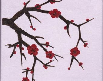 Blossom, Original Acrylic Painting on Canvas
