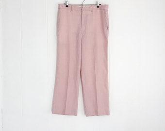 Mens Vintage Pants, Vintage Pink Pants, Vintage Haggar Trousers, Spring Summer Pants, Golf Pants, 70s Mens Pants.