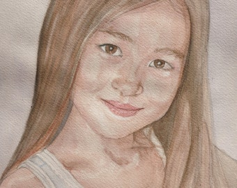 Custom Kid's Watercolor Portrait