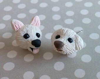 Handmade Polymer Clay Custom Pet Earrings