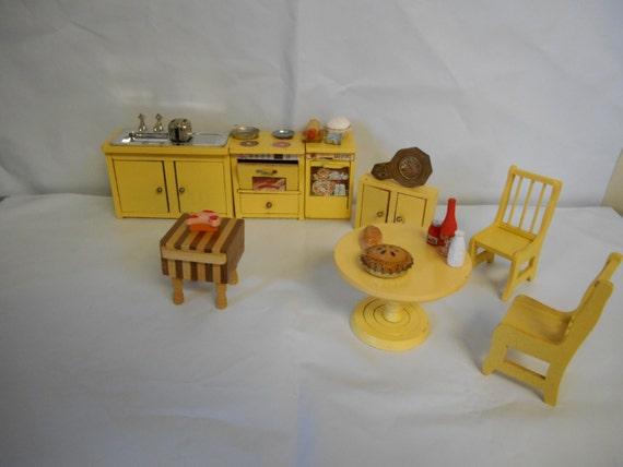 Vintage Sears de poupée en bois cuisine Set lavevaisselle