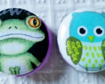 Stethoscope Tags in Frog and Blue Owl