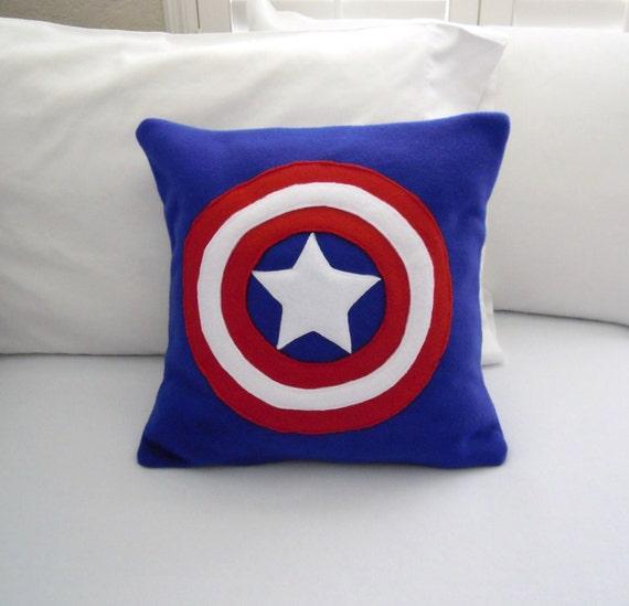 Avengers Decorative Pillow : Captain America Fleece Throw Pillow Marvel Avengers